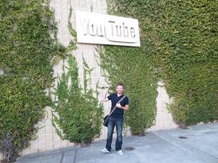 Myles outside YouTube headquarters