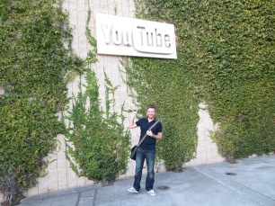 Myles outside YouTube headquarters