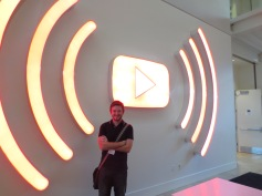 Myles in Youtube lobby