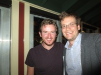 Myles with John Green of Crash Course