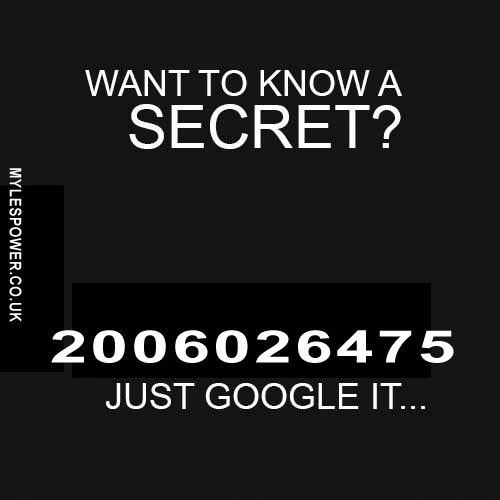 WANT TO KNOW A SECRET
