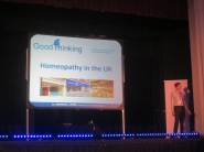 Michael Marshall giving a brill talk about homeopathy