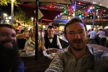 At the bar after the second day of the conference