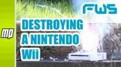 destroying a nintendo wii