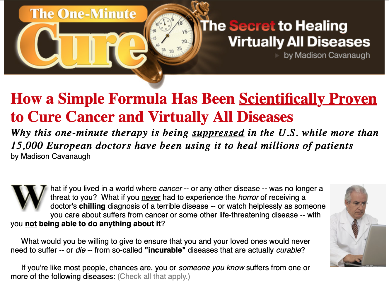 The One-Minute Cure4