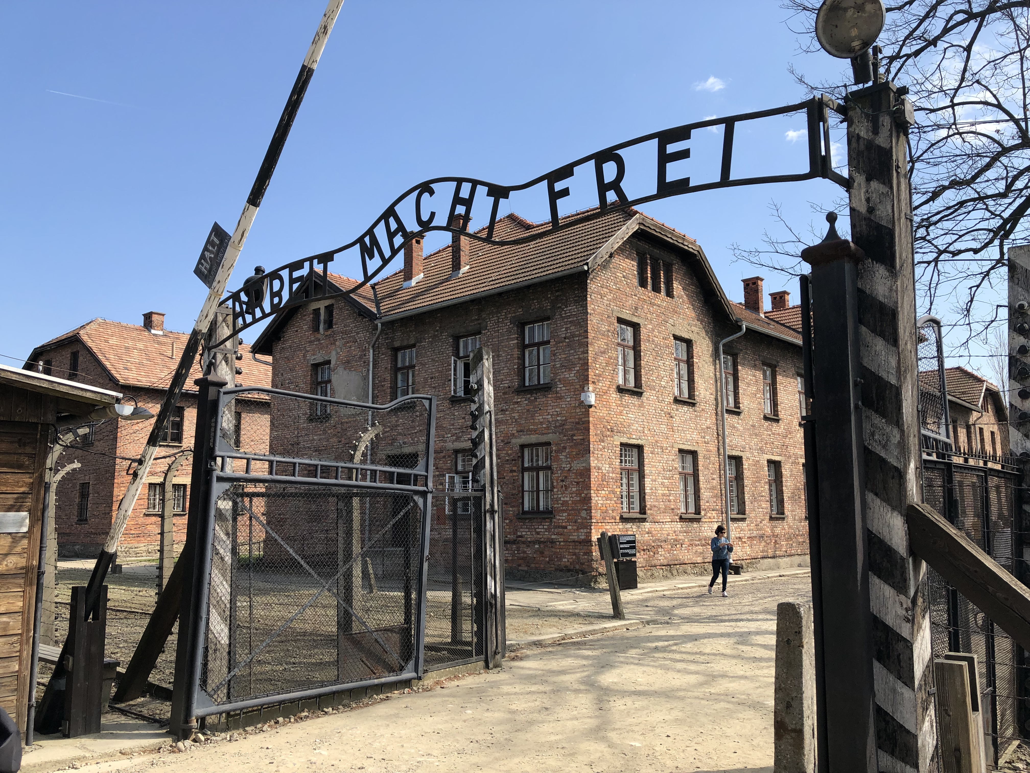 Arbeit macht frei is a German phrase meaning work sets youfree