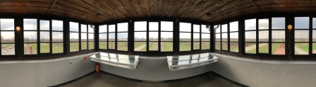 auschwitz birkenau guard tower panoramic