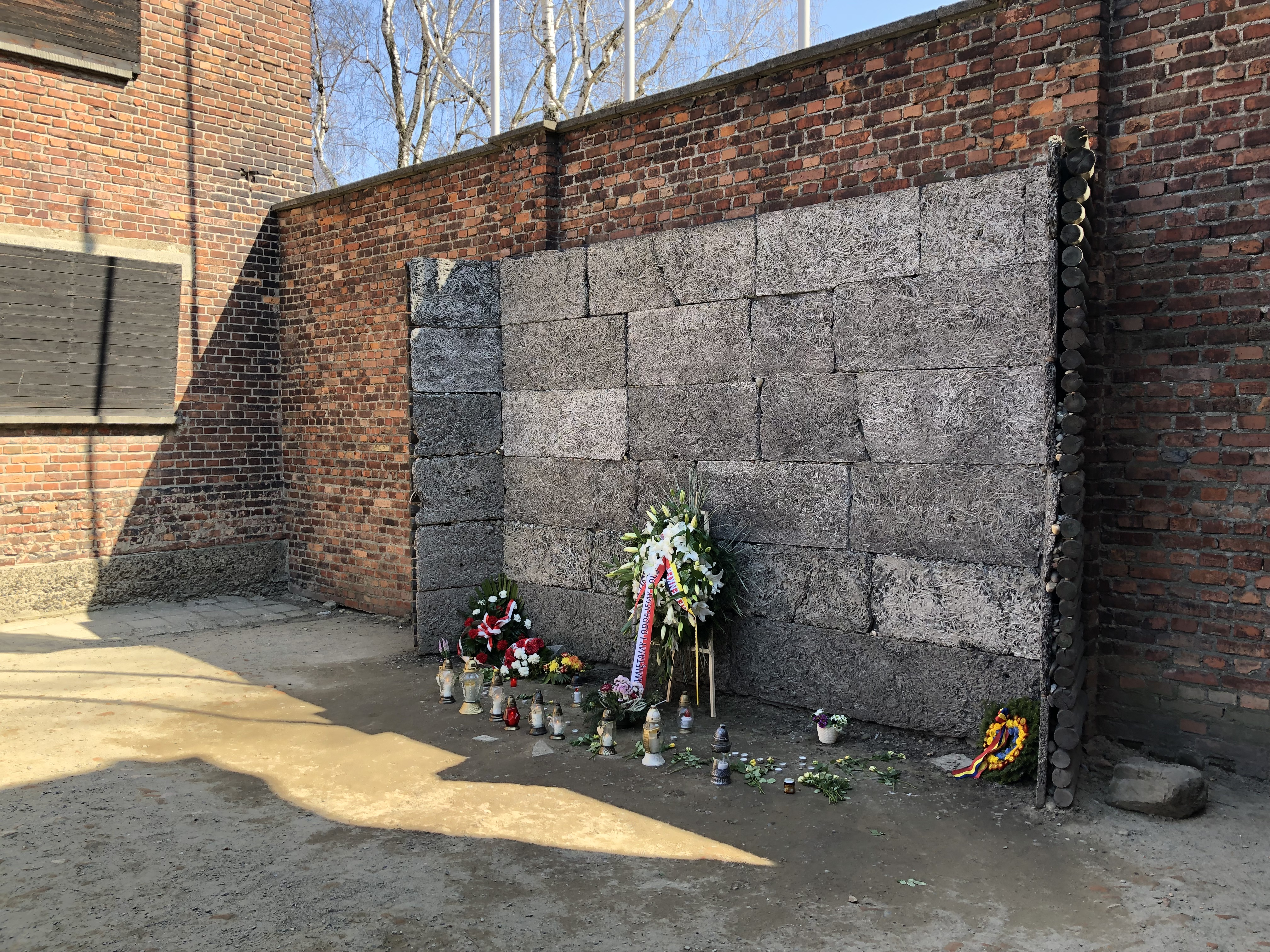Auschwitz death wall