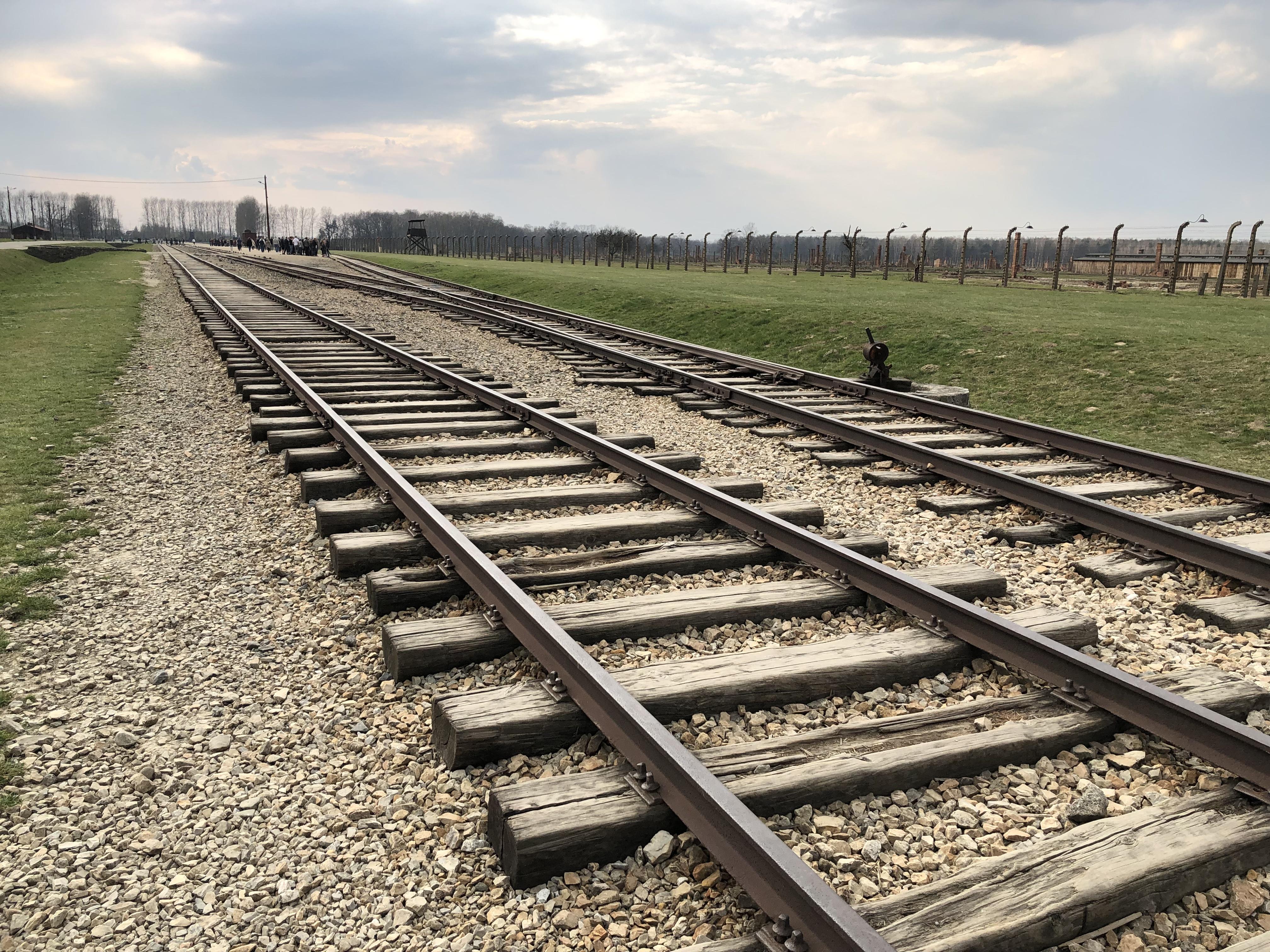 Train into auschwitzbirkenau