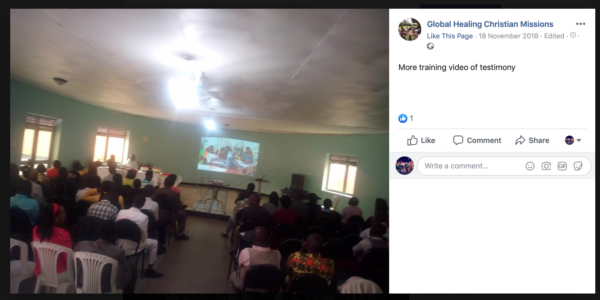 Global Healing Christian Missions Facebook Post12