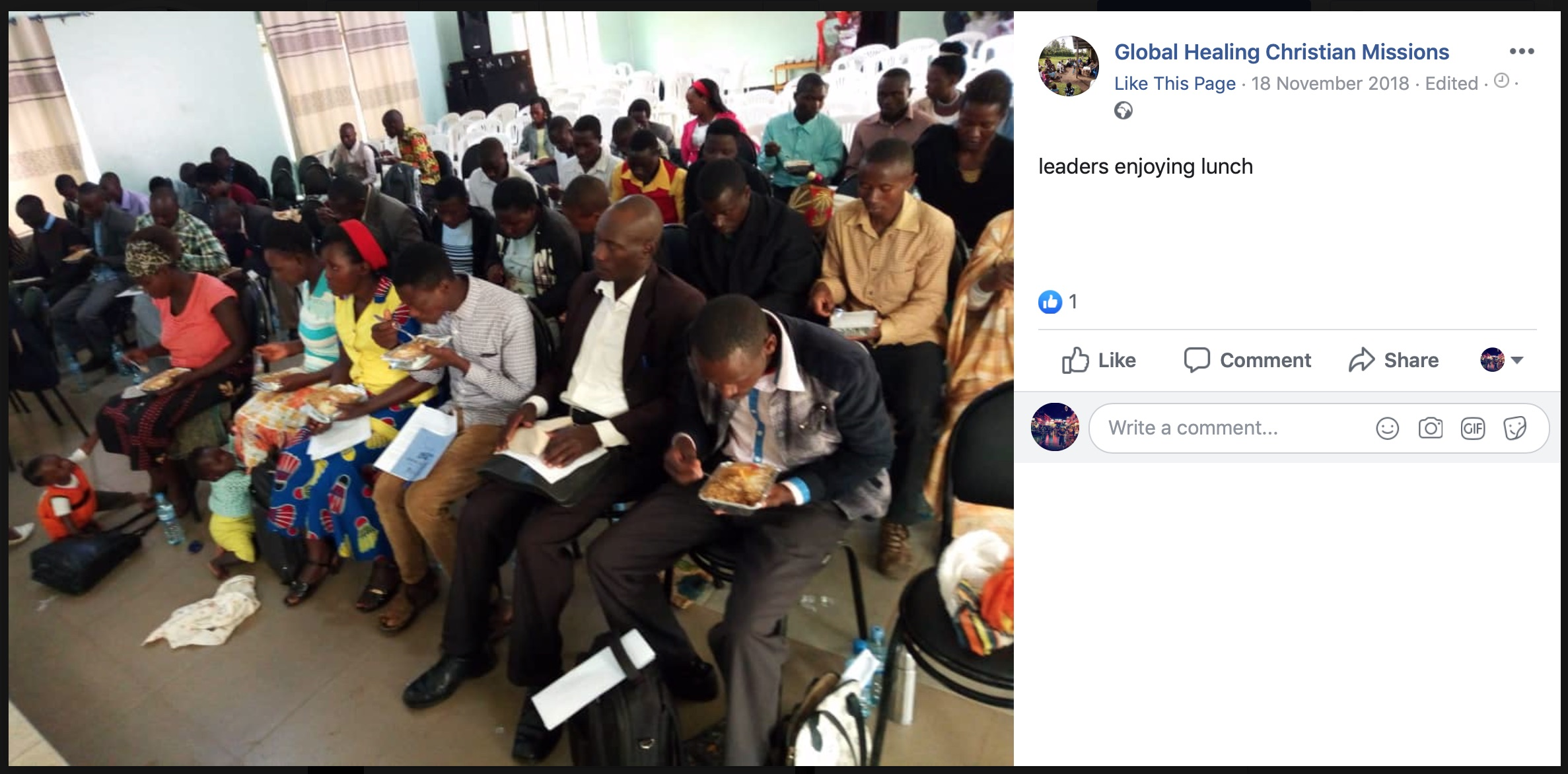 Global Healing Christian Missions Facebook Post17