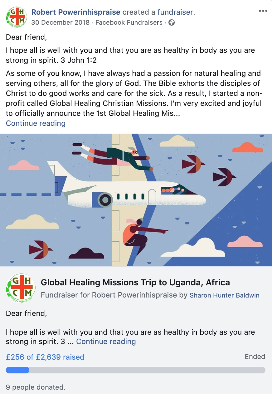 Global Healing Christian Missions Facebook Post9